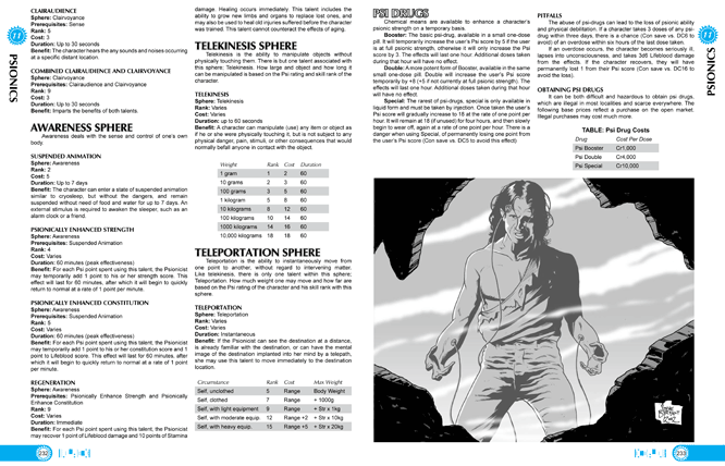Traveller's Guidebook pages 232-233
