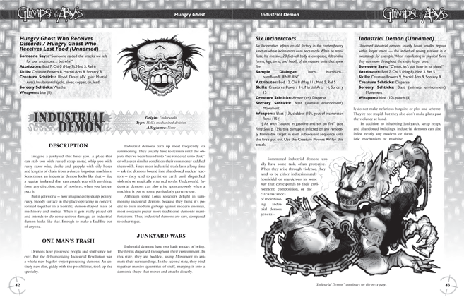 Feng Shui supplement Glimpse of the Abyss pages 42 and 43